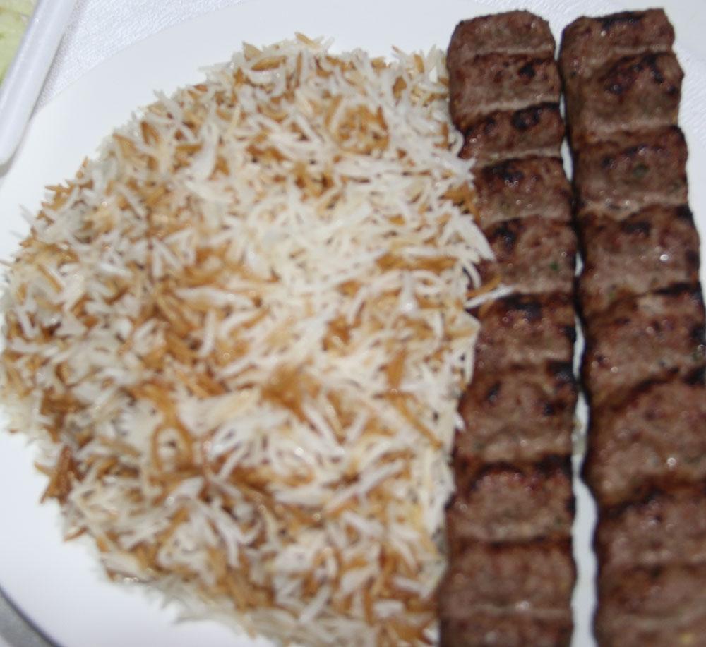 Shami Kabab with Rice