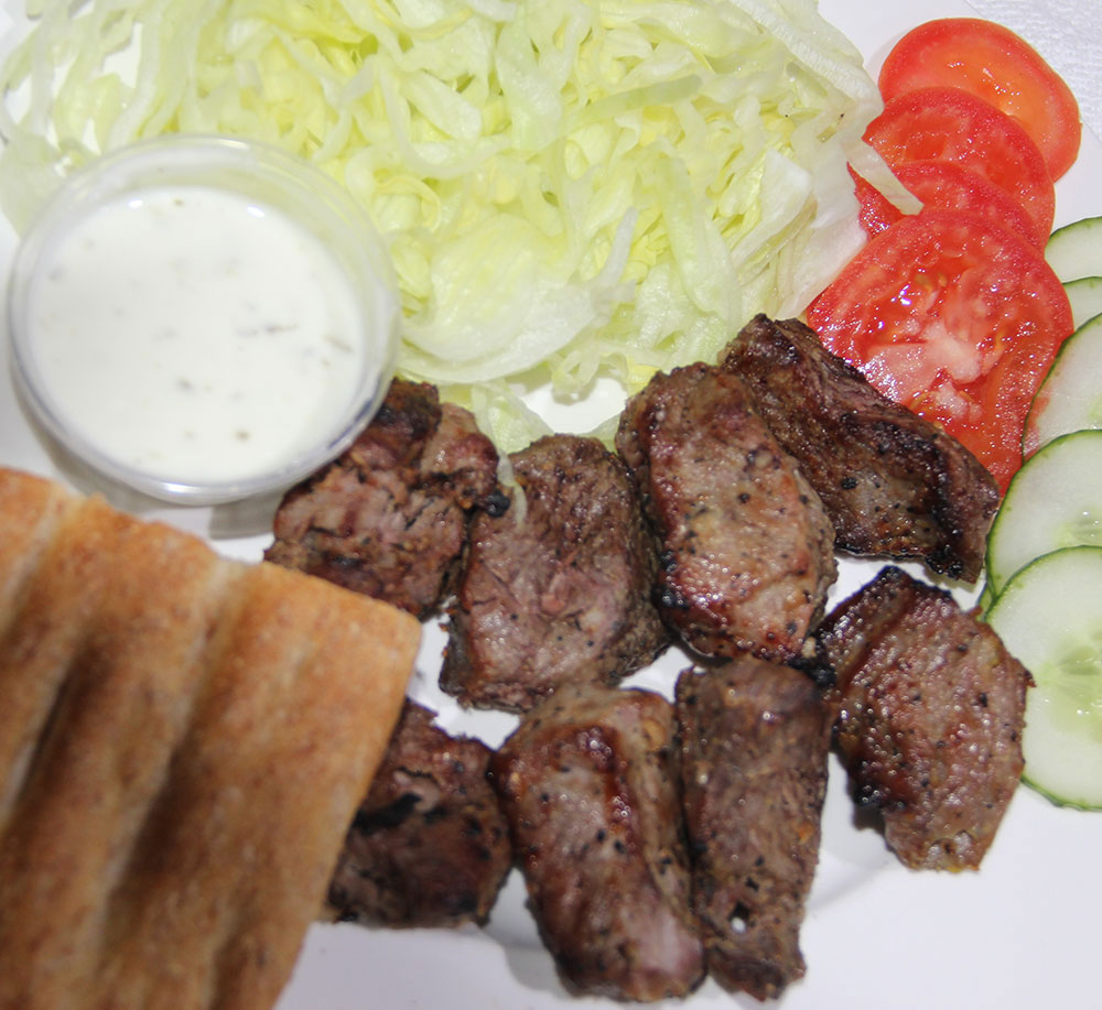 Teka Kabab with Naan